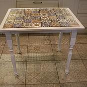 Столы ручной работы. Ярмарка Мастеров - ручная работа Стол со столешницей из плитки. Handmade.
