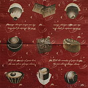 Материалы для творчества handmade. Livemaster - original item Napkin decoupage love chocolate candy. Handmade.
