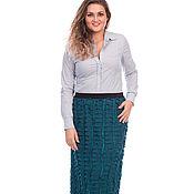 Одежда handmade. Livemaster - original item Skirt dressy turquoise. Handmade.