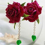 Украшения ручной работы. Ярмарка Мастеров - ручная работа Комплект Розы (кольцо+серьги). Handmade.