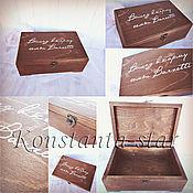 Свадебный салон ручной работы. Ярмарка Мастеров - ручная работа Деревянная шкатулка для денег на свадьбу. Handmade.