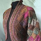 """Одежда ручной работы. Ярмарка Мастеров - ручная работа Жакет """"Лесная орхидея"""", энтрелак, Норо. Handmade."""