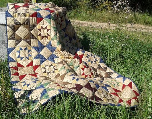 """Текстиль, ковры ручной работы. Ярмарка Мастеров - ручная работа. Купить Лоскутное одеяло """"Техаs"""" пэчворк. Handmade. Разноцветный"""