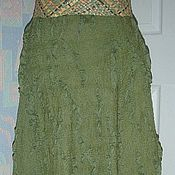 Одежда handmade. Livemaster - original item The skirt is made of wool Forest fairy. Handmade.