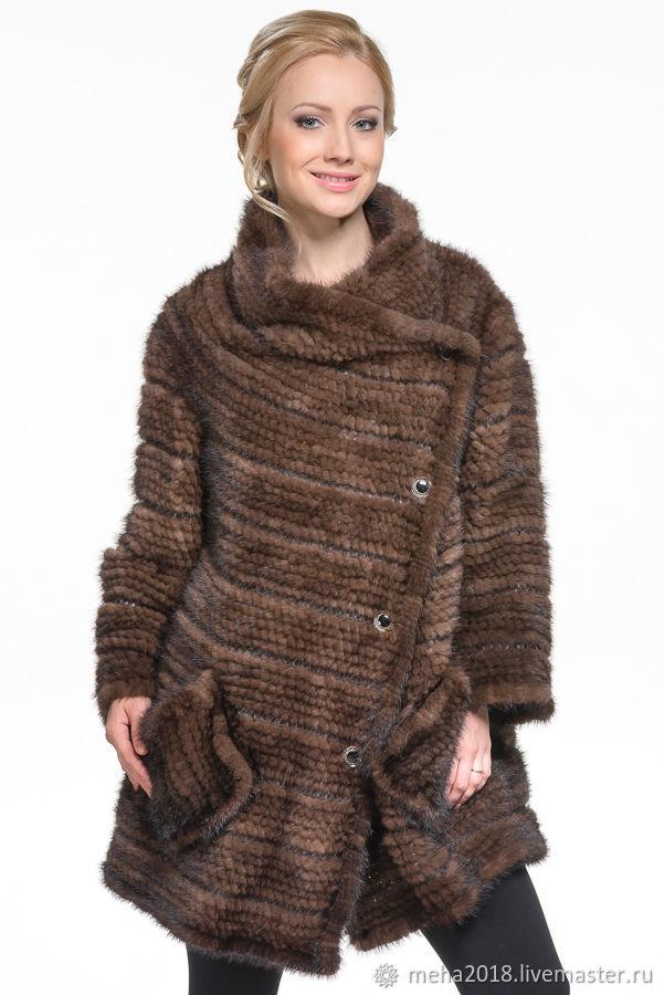 Верхняя одежда ручной работы. Ярмарка Мастеров - ручная работа. Купить Шуба из вязаной норки. Handmade. Меховые изделия