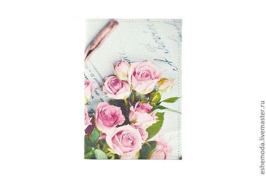 """Обложки ручной работы. Ярмарка Мастеров - ручная работа. Купить Обложка на паспорт """"Корица"""". Handmade. Розы, обложка на паспорт"""