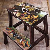 Для дома и интерьера handmade. Livemaster - original item Stool ladder country