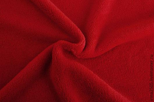 Шитье ручной работы. Ярмарка Мастеров - ручная работа. Купить Ткань Флис Красный. Handmade. Ярко-красный, флис