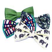 Бабочки ручной работы. Ярмарка Мастеров - ручная работа Зелёные галстук-бабочки. Handmade.