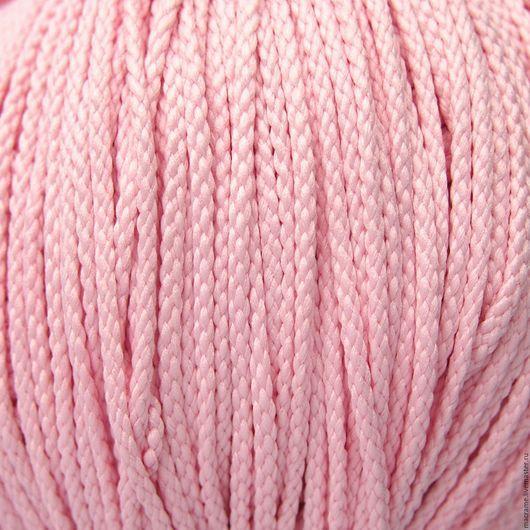 Для украшений ручной работы. Ярмарка Мастеров - ручная работа. Купить Шнур плетеный полиэфирный 3,5 мм бледно-розовый. Handmade.