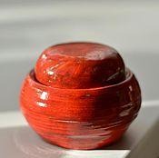 """Посуда ручной работы. Ярмарка Мастеров - ручная работа Банка """"красный день"""". Handmade."""