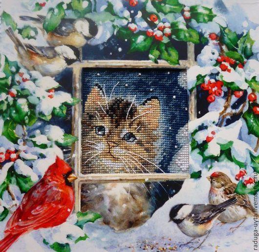 вышивка крестом. вышивка крестиком. вышивка. вышитая картина. картина вышитая крестом. кот. вышивка кот.