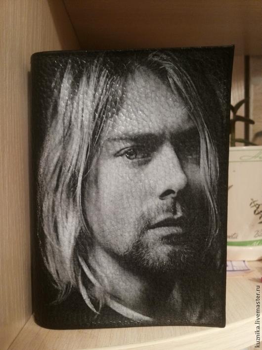 Обложки ручной работы. Ярмарка Мастеров - ручная работа. Купить Обложка для паспорта Nirvana. Handmade. Черный, обложка для паспорта, нирвана