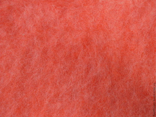 Валяние ручной работы. Ярмарка Мастеров - ручная работа. Купить Шерсть для валяния кардочес (меланж), 27 мкр, Оранжевый. Handmade.