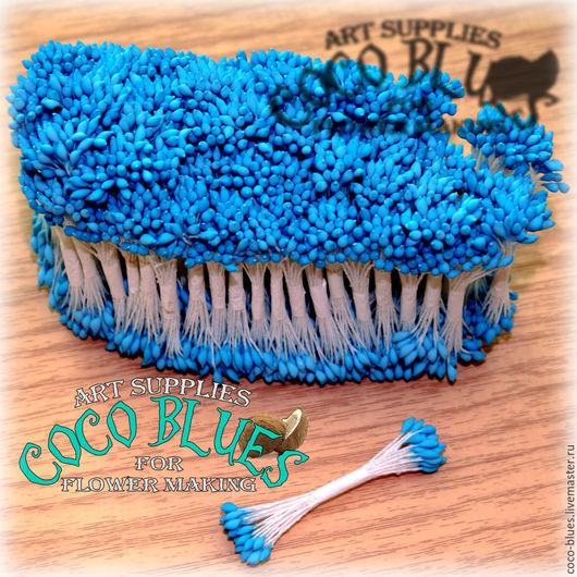 Тычинки. Каплевидные голубые головки Тайские тычинки очень хорошего качества.   `Кокосов Блюз` Таиланд  © Coco Blues (Thailand) Co. Ltd