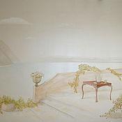 """Дизайн и реклама ручной работы. Ярмарка Мастеров - ручная работа Роспись стены """"Морской пейзаж"""". Handmade."""