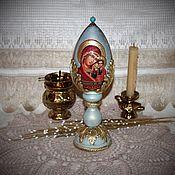 Подарки к праздникам handmade. Livemaster - original item Easter egg interior with the icon of our lady of Kazan. Handmade.