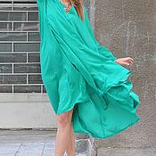 Одежда handmade. Livemaster - original item Summer cotton dress with sleeves - DR0318CV. Handmade.