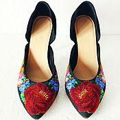 Обувь ручной работы handmade. Livemaster - original item Exclusive shoes handmade embroidered beaded