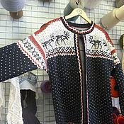 Одежда ручной работы. Ярмарка Мастеров - ручная работа Кардиган в норвежском стиле. Handmade.