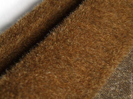 Куклы и игрушки ручной работы. Ярмарка Мастеров - ручная работа. Купить Мохер плюш прямой коричневый с рыжим 13 мм (Германия Schulte). Handmade.