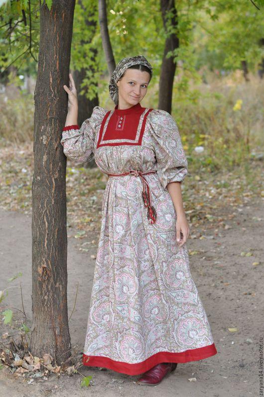 Платья ручной работы. Ярмарка Мастеров - ручная работа. Купить Платье  с необычными рукавами. Handmade. Разноцветный, этническое платье
