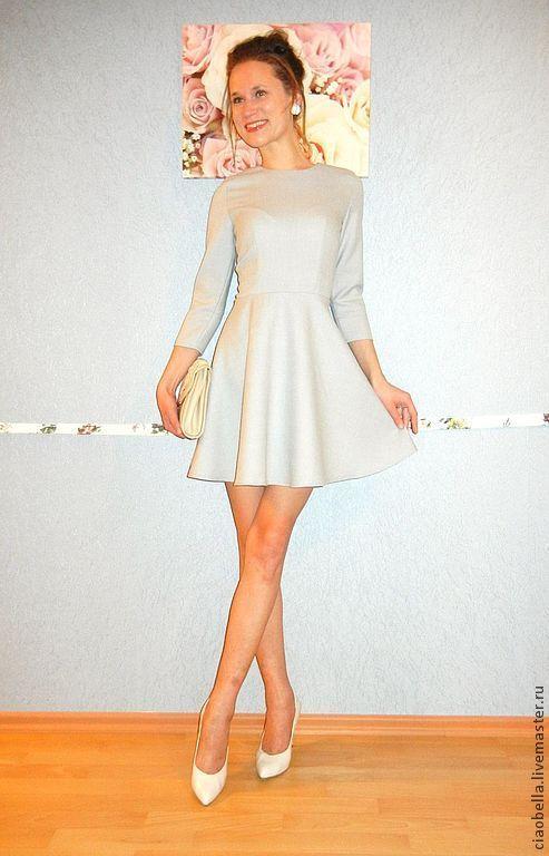 """Платья ручной работы. Ярмарка Мастеров - ручная работа. Купить Платье """"Woman in love"""" из тонкой шерсти. Handmade. Голубой"""