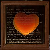 """Свадебный салон ручной работы. Ярмарка Мастеров - ручная работа Акцентный светильник """"Два сердца"""". Handmade."""