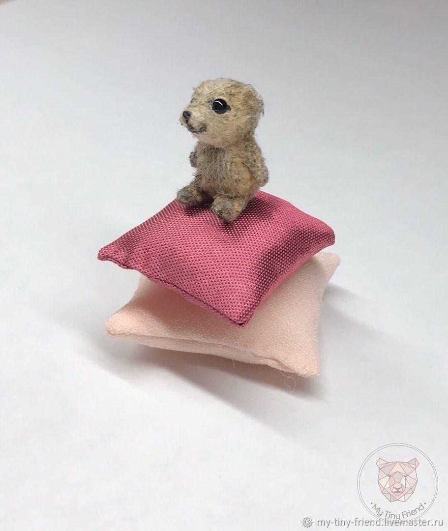 Мишка на подушках в шапочке, Мишки Тедди, Самара,  Фото №1