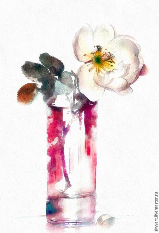 Картины цветов ручной работы. Ярмарка Мастеров - ручная работа. Купить Картины цветов. Акварель. Handmade. Разноцветный, пастель, акрил