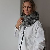 Аксессуары handmade. Livemaster - original item Knitted Snood in grey. Handmade.