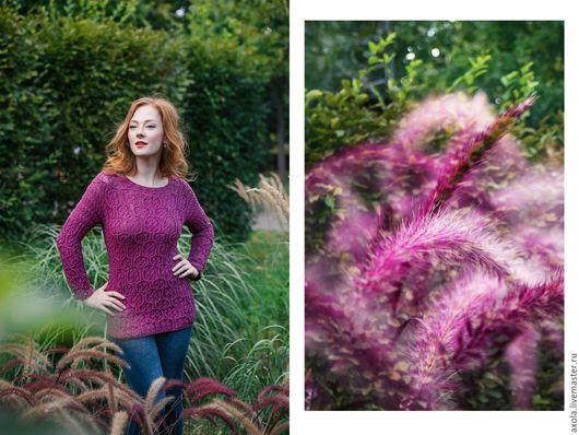 """Кофты и свитера ручной работы. Ярмарка Мастеров - ручная работа. Купить Пуловер """"Безмятежность"""". Handmade. Пуловер вязаный, 96% хлопок"""