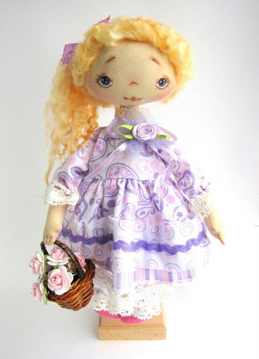 Коллекционные куклы ручной работы. Ярмарка Мастеров - ручная работа. Купить Текстильная кукла - Раечка. Handmade. Кукла ручной работы