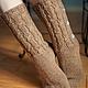 Носки, Чулки ручной работы. Ярмарка Мастеров - ручная работа. Купить гламурные носочки с перламутровыми пуговицами. Handmade. Бежевый