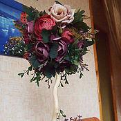 """Цветы и флористика ручной работы. Ярмарка Мастеров - ручная работа Топиарий """"Прованс"""". Handmade."""