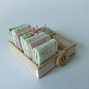 Куклы и игрушки handmade. Livemaster - original item Sewing kit for Dollhouse miniatures. Handmade.
