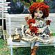 Коллекционные куклы ручной работы. Дженни. YanaDolls. Ярмарка Мастеров. Куклы и игрушки, рыжая кукла, натуральная кожа