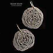 handmade. Livemaster - original item Porcelain earrings