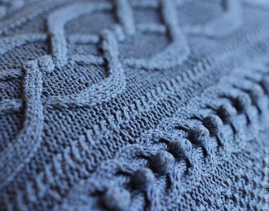 """Текстиль, ковры ручной работы. Ярмарка Мастеров - ручная работа. Купить Подушка вязаная диванная """"Морская"""". Handmade. Средиземноморский стиль"""