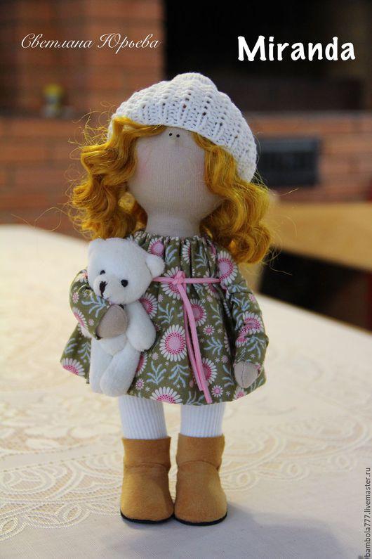 Коллекционные куклы ручной работы. Ярмарка Мастеров - ручная работа. Купить Кукла интерьерная текстильная 26 см. Handmade.