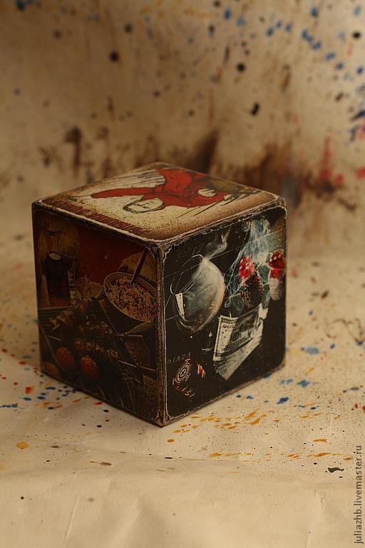 """Подарки для мужчин, ручной работы. Ярмарка Мастеров - ручная работа. Купить Мужской кубик-открытка """"Жребий"""". Handmade. Аппликация, рыбалка"""