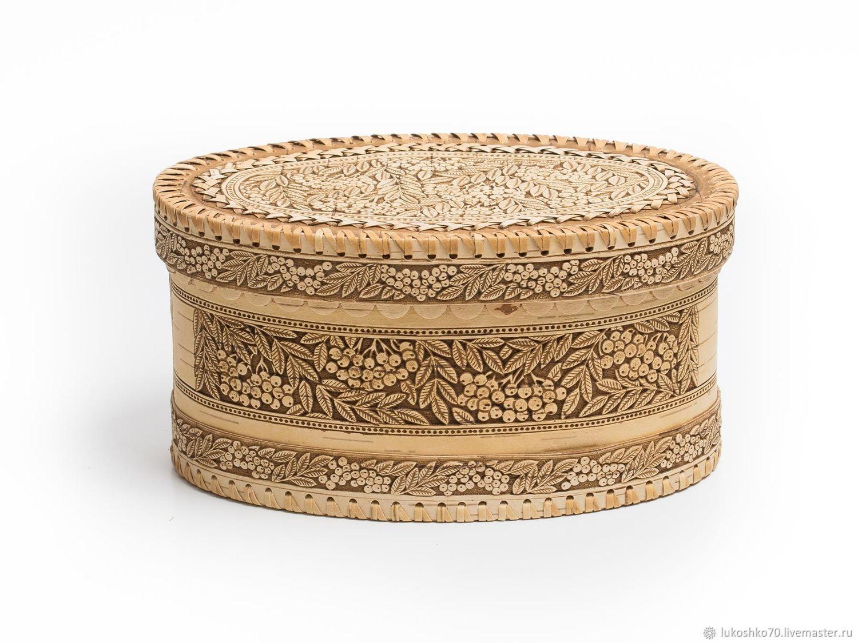 Bread box of birch bark 'Rowan'. Handmade box, Box, Tomsk,  Фото №1
