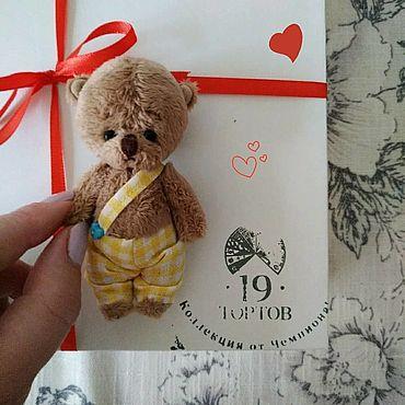Dolls & toys handmade. Livemaster - original item Bear in yellow pants. Handmade.