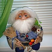 Куклы и игрушки ручной работы. Ярмарка Мастеров - ручная работа Старичок- домовичок. Интерьерная кукла. Handmade.