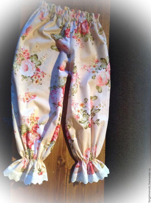 """Белье ручной работы. Ярмарка Мастеров - ручная работа. Купить Пижама с панталонами """"Цветочный вальс"""". Handmade. Бежевый, пижама"""