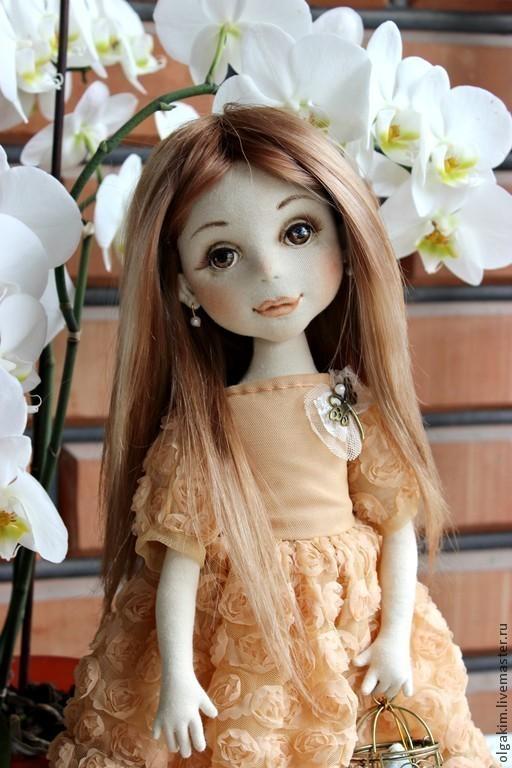 Коллекционные куклы ручной работы. Ярмарка Мастеров - ручная работа. Купить Кристи. Handmade. Бежевый, подарок на день рождения