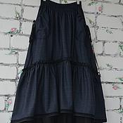 Одежда handmade. Livemaster - original item Skirt style boho with pockets of