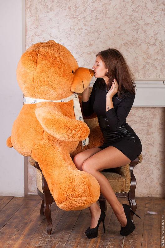 Игрушки животные, ручной работы. Ярмарка Мастеров - ручная работа. Купить Большой плюшевый медведь.. Handmade. Рыжий, мишка