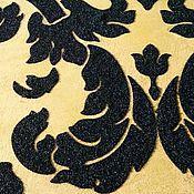 Дизайн и реклама handmade. Livemaster - original item Decorative plaster with a pattern stenciled silk velvet, wall decor. Handmade.