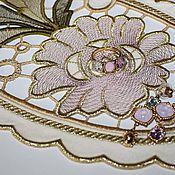 Для дома и интерьера handmade. Livemaster - original item Oval doily Richelieu. Handmade.